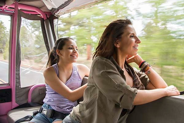 Traveling with kids - on a jeep tour