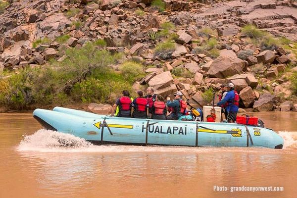 Hualapai Pontoon Boat Ride, Grand Canyon West