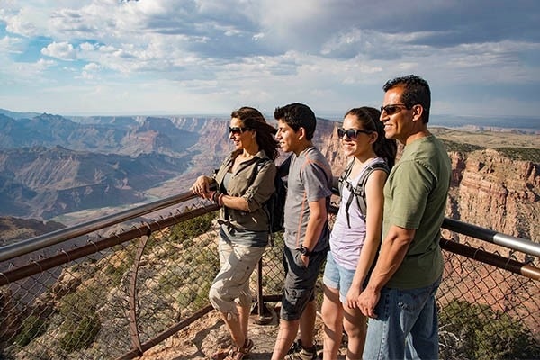 View from Desert View Watchtower at Grand Canyon