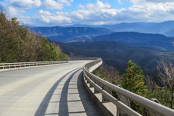 Foothills Parkway near Pigeon Forge, TN.
