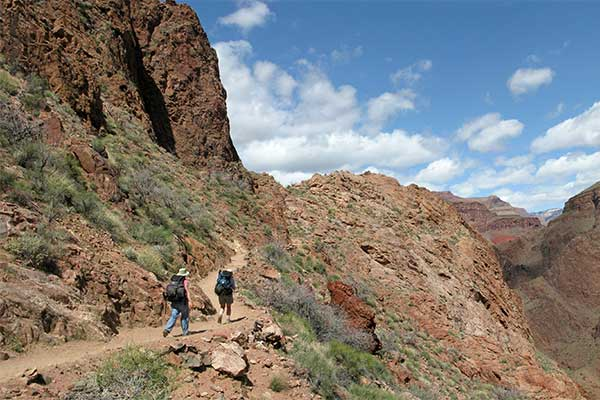 Hikers on Bright Angel Trail, NPS Michael Quinn